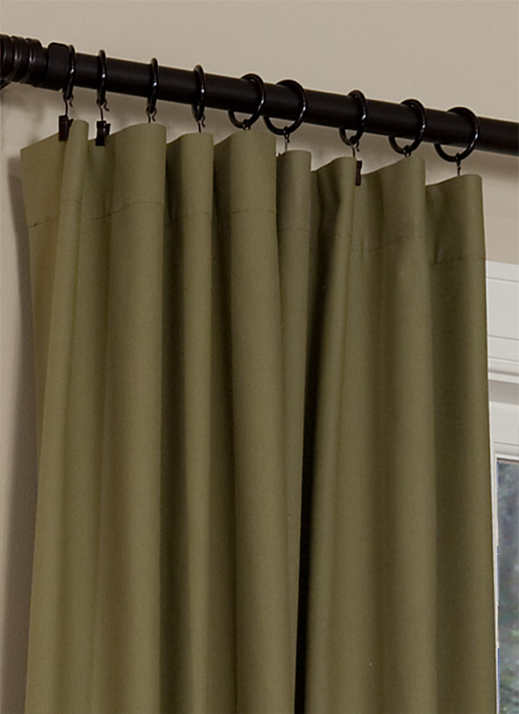Rod curtains on rods creating a cozy sleep space for Portable window curtain