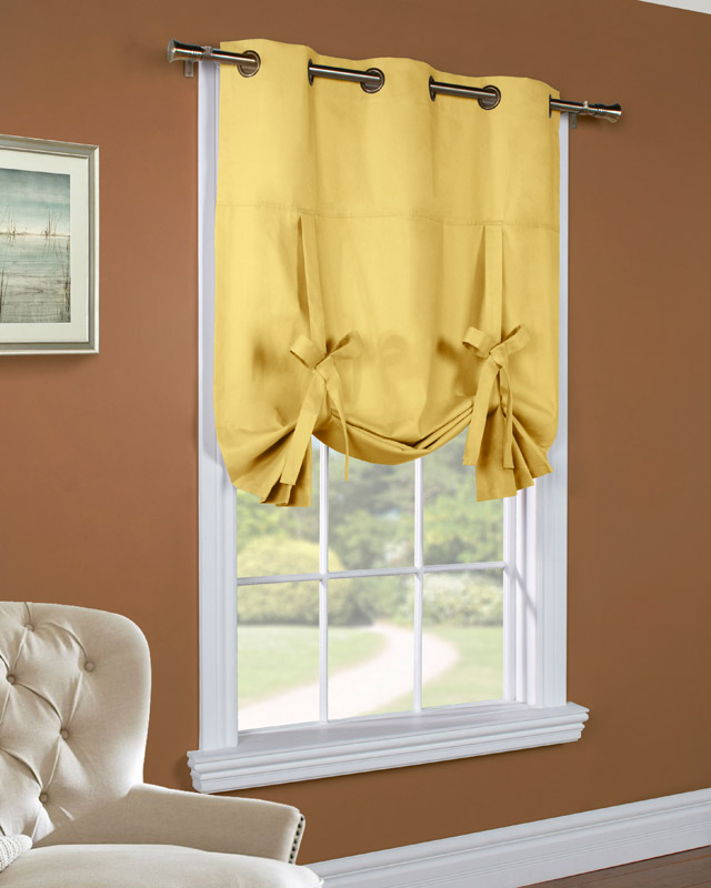 How To Tie Up Curtains Tutorial