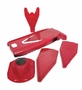 Borner V-7000 Power Mandoline Slicer Set, Red