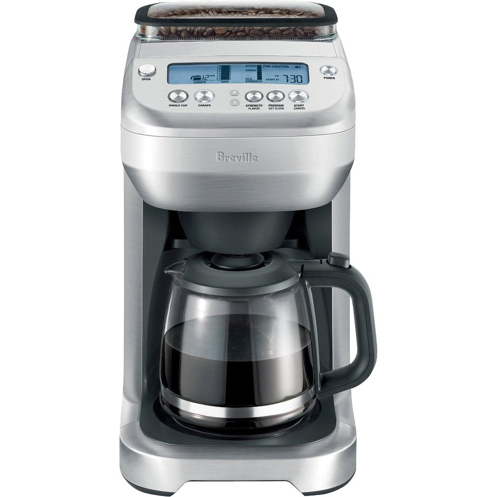 Breville Coffee Maker No Water : Breville BDC550XL You Brew Grind and Brew Coffee Maker, Glass at Chefs Corner Store