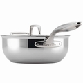 Breville Thermo Pro Clad Covered Saucier with Helper Handle, 4 Quart
