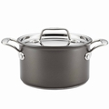 Breville Thermo Pro Hard Anodized Covered Saucier with Helper Handle, 4 Quart