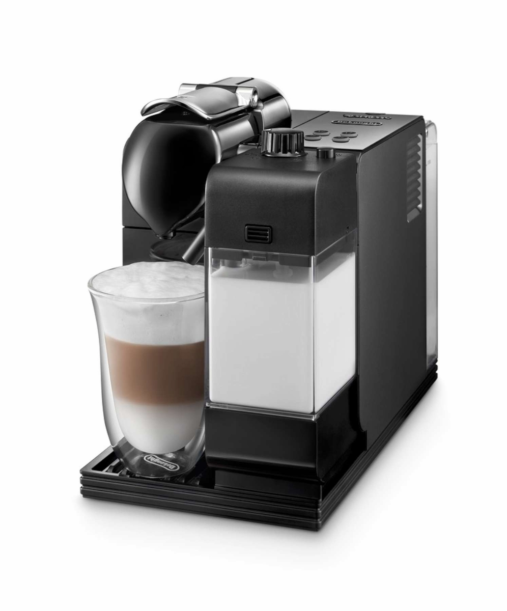 delonghi en520bk lattissima plus nespresso capsule system black at chefs corner store. Black Bedroom Furniture Sets. Home Design Ideas