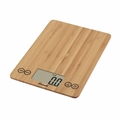 Escali ECO157 Arti Glass Digital Kitchen Scale, Bamboo