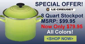 Save on Le Creuset Stock Pots, All Colors!