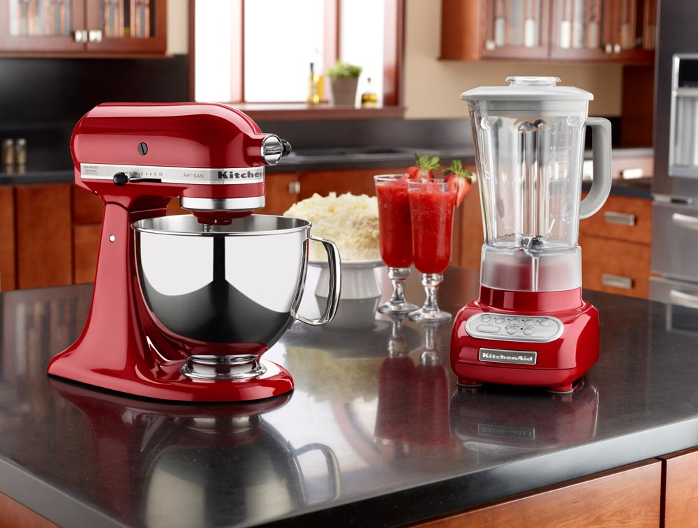 kitchenaid mixer red. kitchenaid ksm150pser artisan 5-quart stand mixer, empire red kitchenaid mixer k