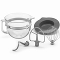KitchenAid KSMF6GB 6 Quart Glass Mixing Bowl with Accessories for Bowl-Lift Stand Mixers