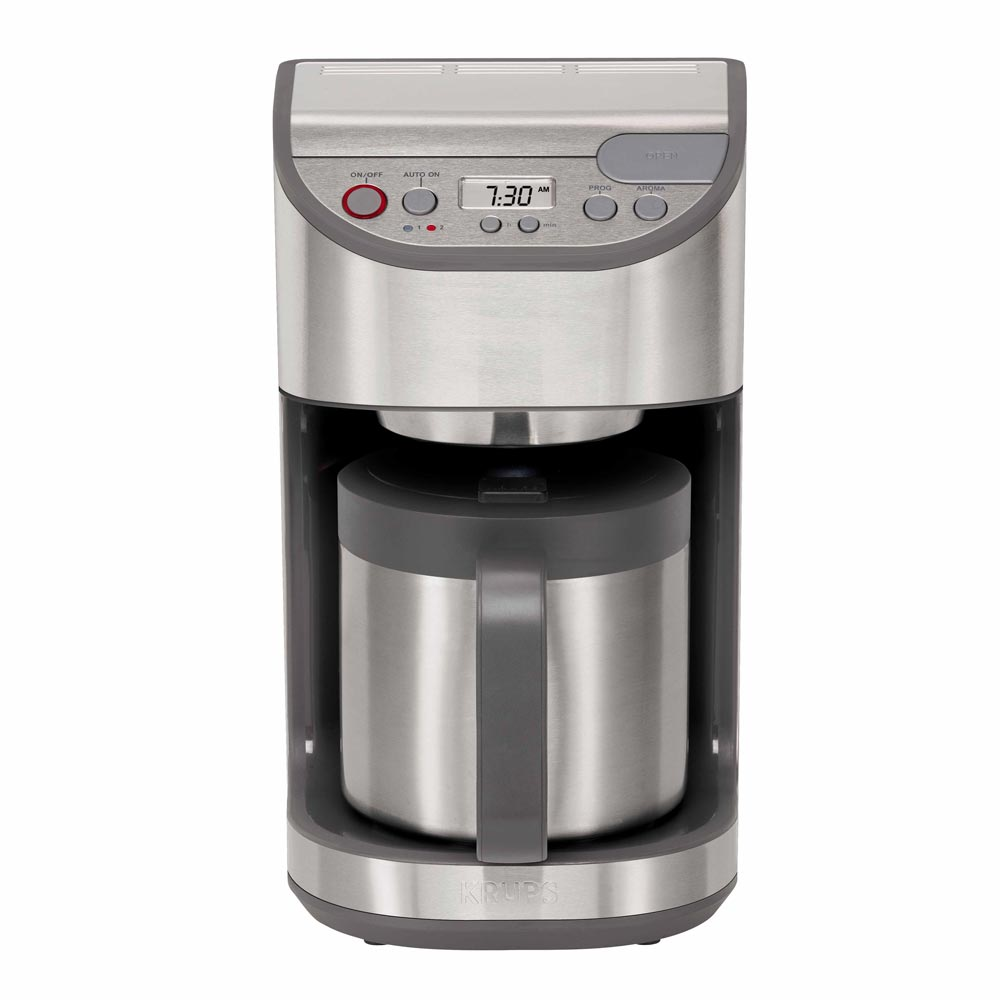 Krups KM611D50 10 Cup Precision Coffee Maker w/ Thermal Carafe, Stainless Steel at Chefs Corner ...