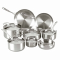 Lagostina Axia Tri Ply Stainless Steel Cookware Set, 13 Piece