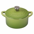 Le Creuset Cast Iron 0.3 Quart Round French Oven w/ Stainless Handle, Palm Green