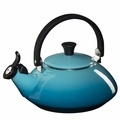 Le Creuset Enamel on Steel 1.6 Quart Zen Tea Kettle, Caribbean Blue