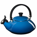 Le Creuset Enamel on Steel 1.6 Quart Zen Tea Kettle, Marseille Blue