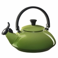 Le Creuset Enamel on Steel 1.6 Quart Zen Tea Kettle, Palm Green
