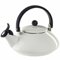 Le Creuset Enamel on Steel 1.6 Quart Zen Tea Kettle, White