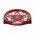 Le Creuset Enameled Cast-Iron Deluxe 9 Inch Round Trivet, Cherry Red
