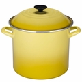 Le Creuset Enameled Steel 10 Quart Stockpot, Soleil Yellow