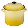 Le Creuset Enameled Steel 12 Quart Stockpot, Soleil Yellow