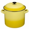 Le Creuset Enameled Steel 16 Quart Stockpot, Soleil Yellow