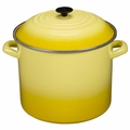 Le Creuset Enameled Steel 20 Quart Stockpot, Soleil Yellow
