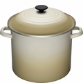 Le Creuset Enameled Steel 8 Quart Stockpot, Dune White