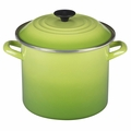 Le Creuset Enameled Steel 8 Quart Stockpot, Palm Green
