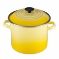 Le Creuset Enameled Steel 8 Quart Stockpot, Soleil Yellow