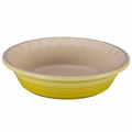 Le Creuset Heritage 9 Inch Stoneware Pie Dish, Soleil Yellow