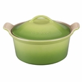 Le Creuset Heritage Round 3 Quart Covered Casserole, Palm Green