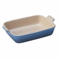Le Creuset Heritage Stoneware 10 x 7 Inch Baking Dish, Marseille Blue