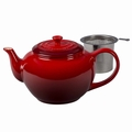 Le Creuset Large Teapot with Steel Infuser, Cherry Red