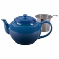 Le Creuset Large Teapot with Steel Infuser, Marseille Blue