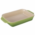 Le Creuset Signature 10.5 x 7 Inch Stoneware Baking Dish, Palm Green