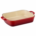 Le Creuset Signature 5.25 Quart Cast Iron Roaster, Cherry Red