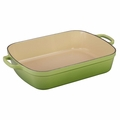 Le Creuset Signature 5.25 Quart Cast Iron Roaster, Palm Green