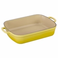 Le Creuset Signature 5.25 Quart Cast Iron Roaster, Soleil Yellow