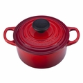Le Creuset Signature Cast Iron 1 Quart Round French Oven, Cherry Red