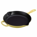 Le Creuset Signature Cast Iron 11.75 Inch Skillet, Soleil Yellow