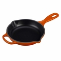 Le Creuset Signature Cast Iron 6.3 Inch Skillet, Flame Orange