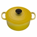 Le Creuset Signature Enameled Cast Iron 2 Quart Round French Oven, Soleil Yellow