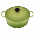 Le Creuset Signature Enameled Cast Iron 5.5 Quart Round French Oven, Palm Green