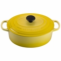 Le Creuset Signature Enameled Cast Iron 5 Quart Oval French Oven, Soleil Yellow