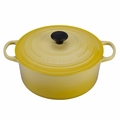 Le Creuset Signature Enameled Cast Iron 7.25 Quart Round French Oven, Soleil Yellow