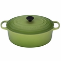 Le Creuset Signature Enameled Cast Iron 9.5 Quart Oval French Oven, Palm Green