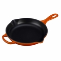 Le Creuset Signature Enameled Cast Iron 9 Inch Skillet, Flame Orange