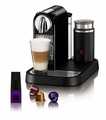 Nespresso Espresso Maker with Aeroccino Milk Frother, Black