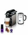 Nespresso Pixie Espresso Maker With Aeroccino Milk Frother, Titanium