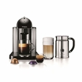 Nespresso VertuoLine Coffee & Espresso Maker with Aeroccino Milk Frother, Black