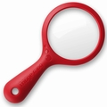New Soda Refrigerator Magnifying Glass Magnet, Red