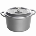 Nordic Ware Pro Cast Traditions Enameled Dutch Oven with Cover, 6.5 Quart, Slate