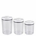 OXO Good Grips 3 Piece POP Round Canister Set, White